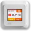 Heat Mat NGT-2.0-STND 16A NGTouch Colour Touchscreen Thermostat Polar White